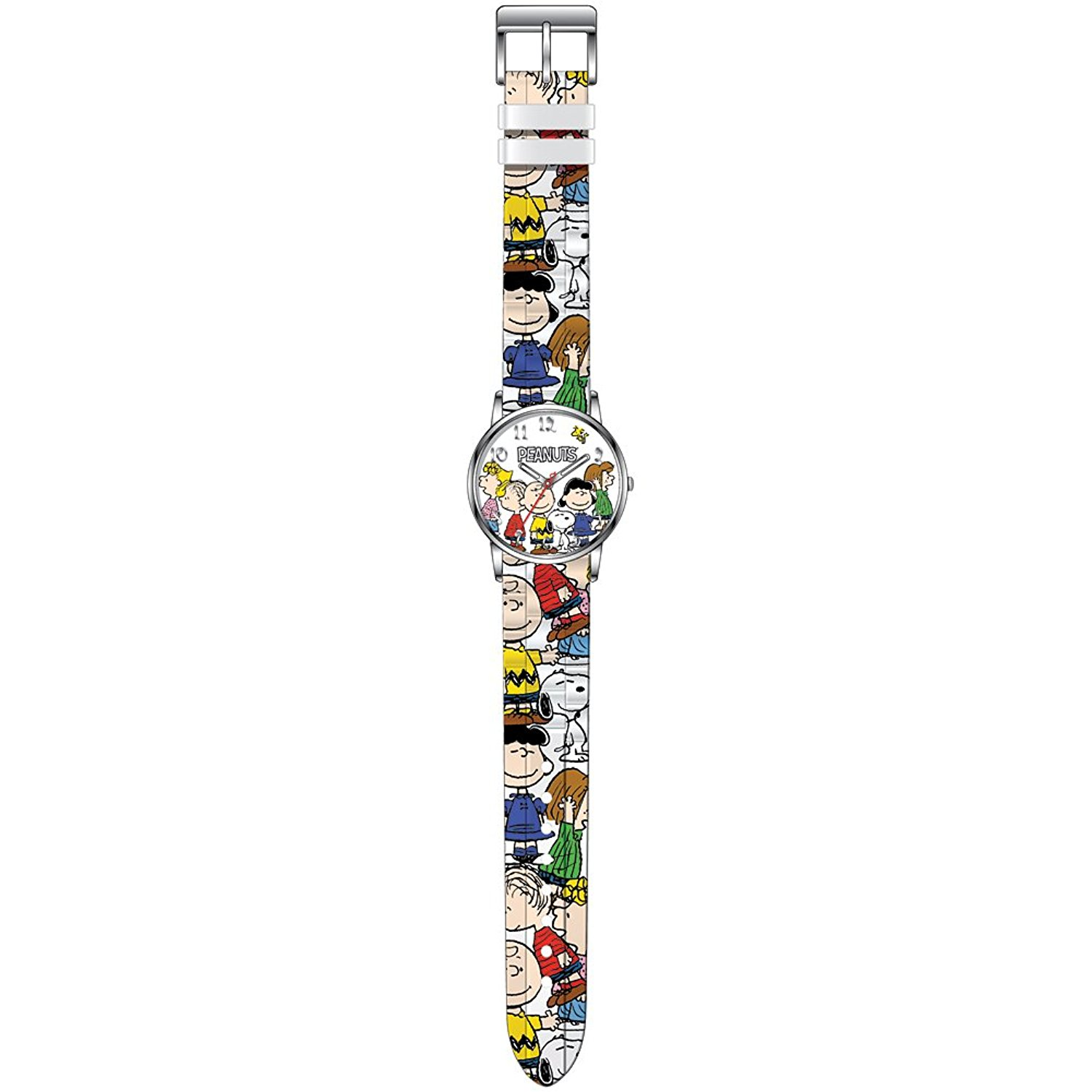 Collectible PEANUTS Characters Silvertone Watch With Matc...