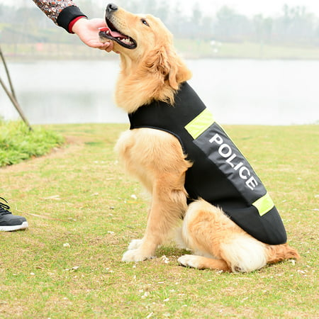 Dog Vest Police Dog Pet Costume Guard Dog Vest Training Pants Jacket Size XL
