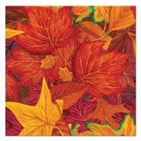 90812 Fall Leaf Luncheon Napkins (16 Pack), Multicolor, This item is a great value! By Beistle,USA