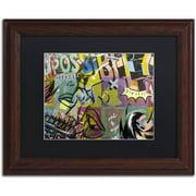 "Trademark Fine Art ""IMPOSSIBLE"" Canvas Art by Dan Monteavaro Black Matte, Wood Frame"