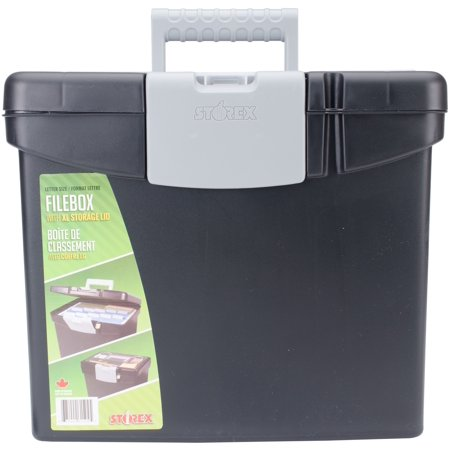 - Storex Portable File Box