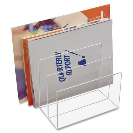 - Kantek Clear Acrylic File Sorter, 3 sections, 8 X 6-1/2 X 7-1/2 inches