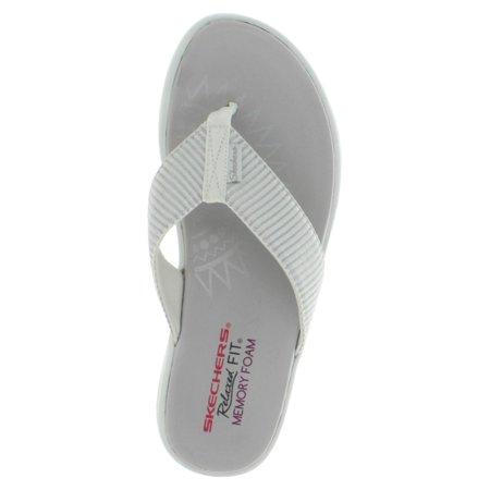 Skechers Upgrades Sailin Women's Thong Flip Flop Sandals Memory Foam
