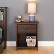 Prepac Yaletown 1-Drawer Tall Nightstand, Multiple Finishes