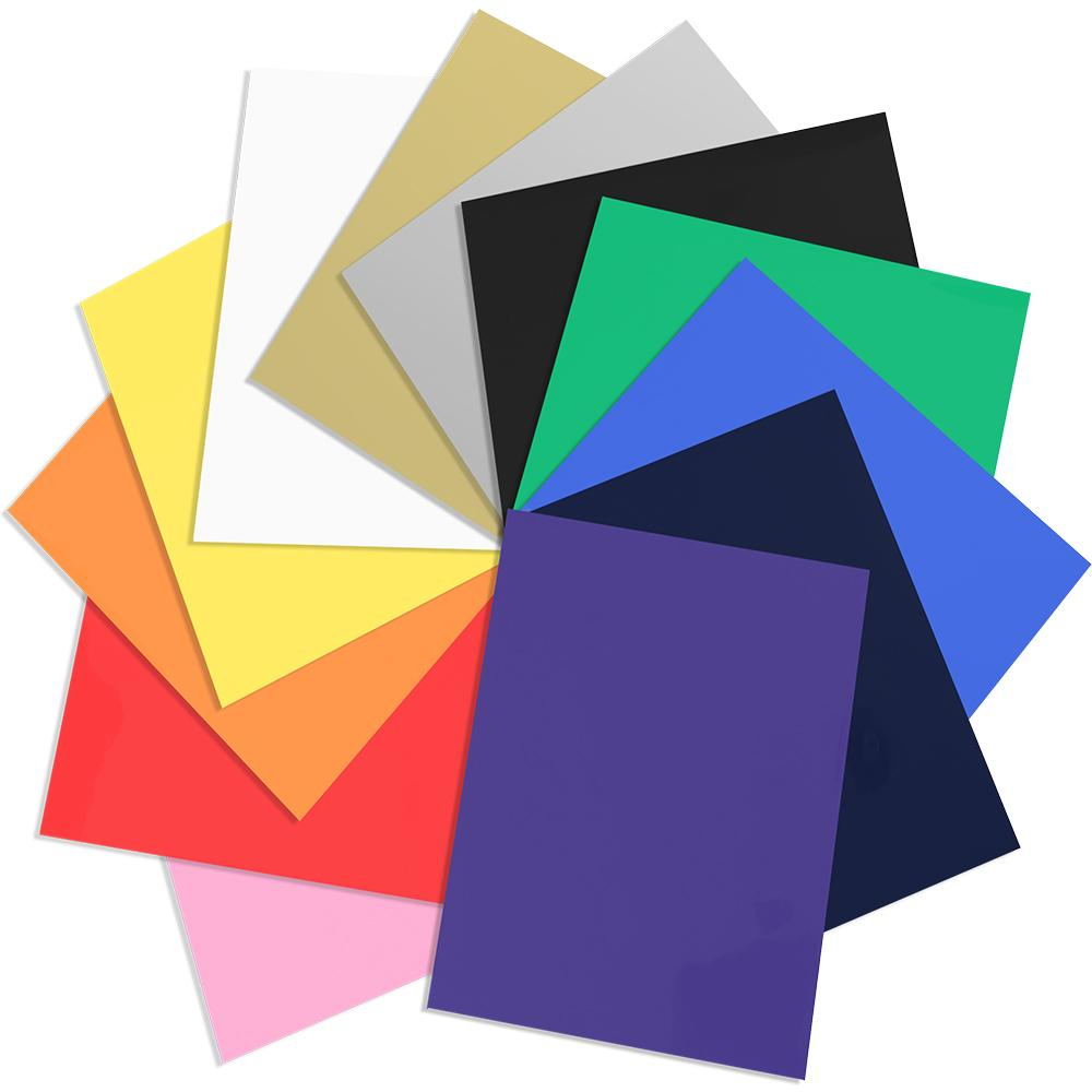 "Siser Easyweed Heat Transfer Vinyl, 12"" x 12"" Sheets, 12 Pack Top Colors"