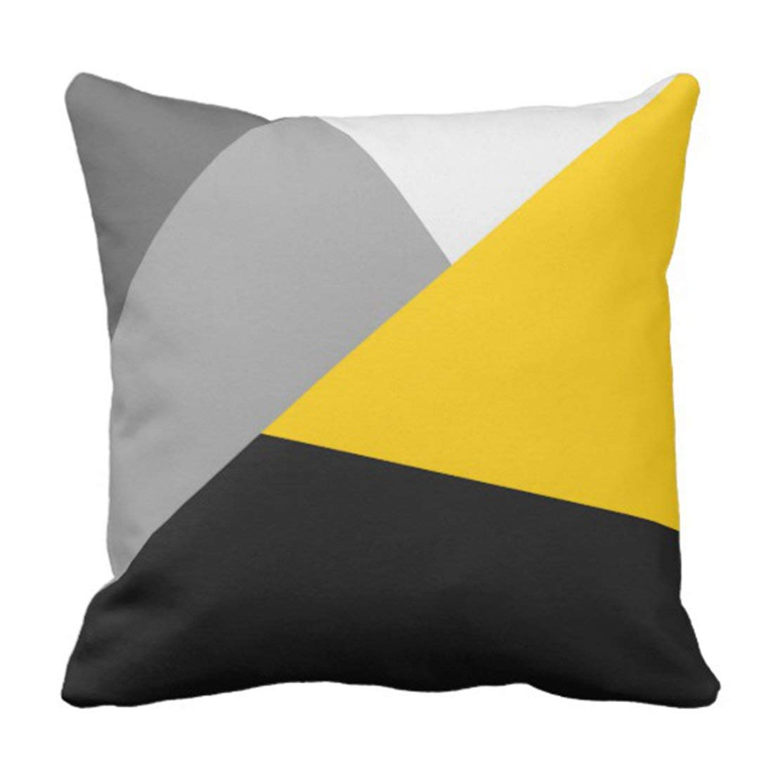 Gray and Yellow PIllow Case Standard SIze