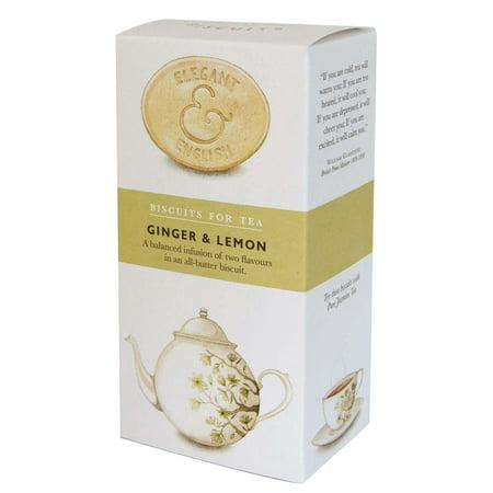 Artisan Elegant & English Ginger & Lemon Biscuit, 4.4oz (125g) - Organic Lemon Biscuits