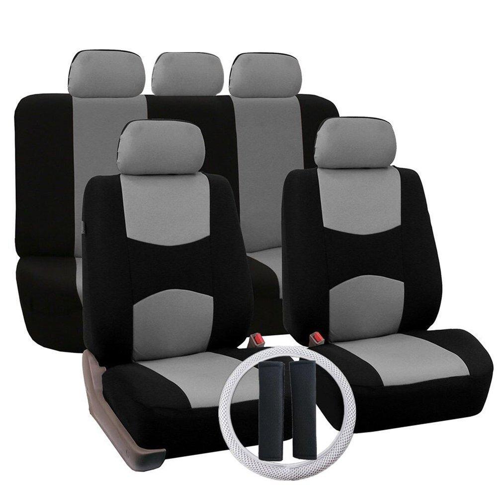 12Pcs Set Four Seasons Universal Car Seat Cushions Automobiles Covers Gray