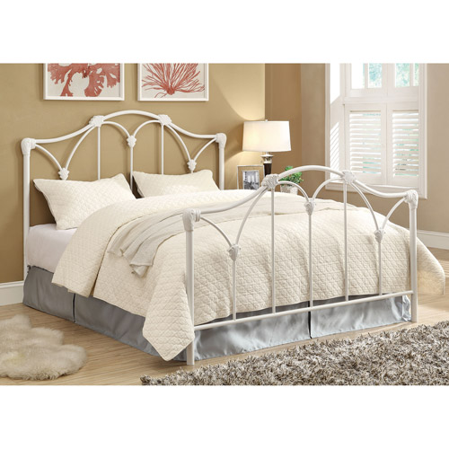 Coaster Iron Queen Bed, White