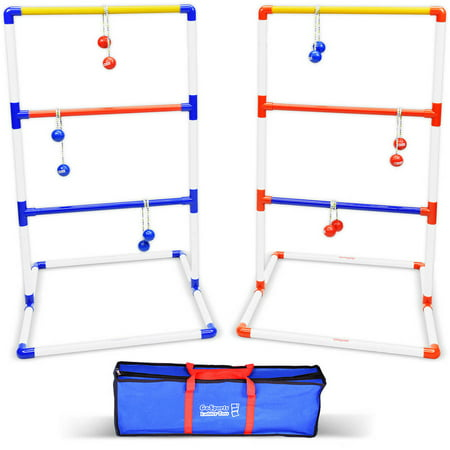 GoSports Premium Ladder Toss Game Set with 6 Bolos, Portable Carrying Case and Scoring System](Ladder Golf Dimensions)
