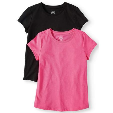Toddler Wonder Woman Shirt (Wonder Nation Crew Neck T-Shirts, 2-Pack (Little Girls, Big Girls, &)