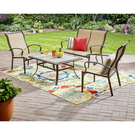 Mainstays Wesley Creek 4-Piece Outdoor Conversation Set Creek House 2 Piece