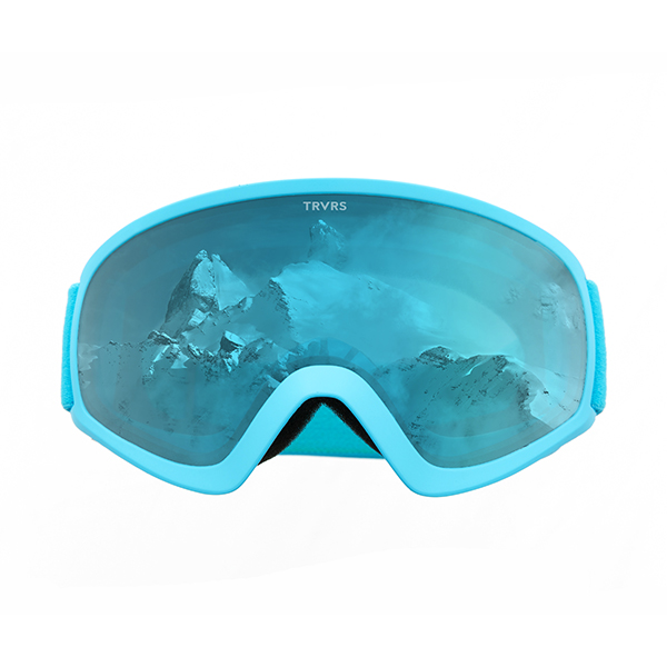 Traverse Iris Youth Ski, Snowboard, and Snowmobile Goggles, Sky Blue & Lemon