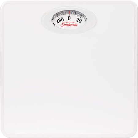 Sunbeam Rotating Dial Bathroom Scale White