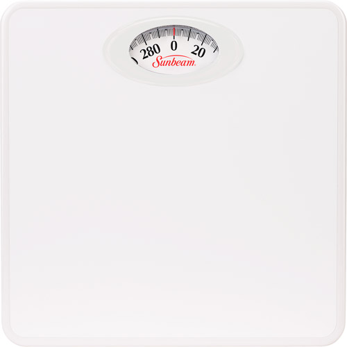Attractive Sunbeam Rotating Dial Bathroom Scale, White