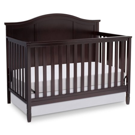 Delta Children Madrid 4-in-1 Convertible Crib, Dark Chocolate