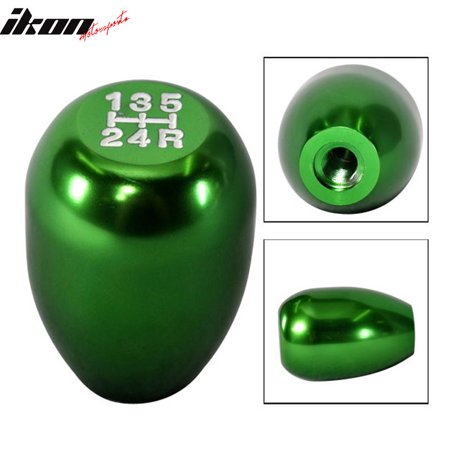 Green Aluminum M8X1.25MM MT Manual T-R Style Gear Shift Shifter Knob 5 Speed (Best 6 Speed Shift Knob)