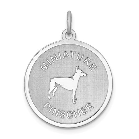 Roy Rose Jewelry Sterling Silver Miniature Pinscher Disc Charm