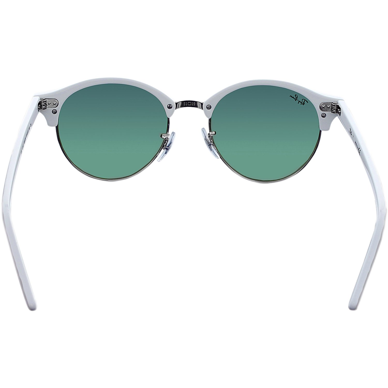 99dd2e9ad268b Ray-Ban Women s Clubround RB4246-988 2X-51 White Round Sunglasses ...