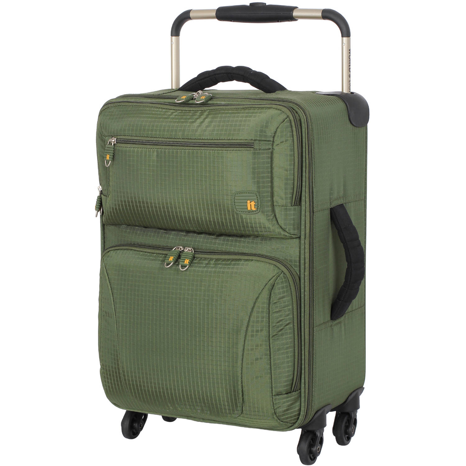 "It Luggage 21"" Ultra Lightweight 4-Wheel Carry-On Luggage, Olive"