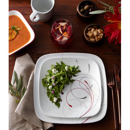 Corelle Square Splendor 16-Piece Dinnerware Set ()