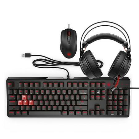 HP Omen Keyboard 1100 + Mouse 600 + Headset 800 Gaming Bundle - Keyboard Mouse Bundle