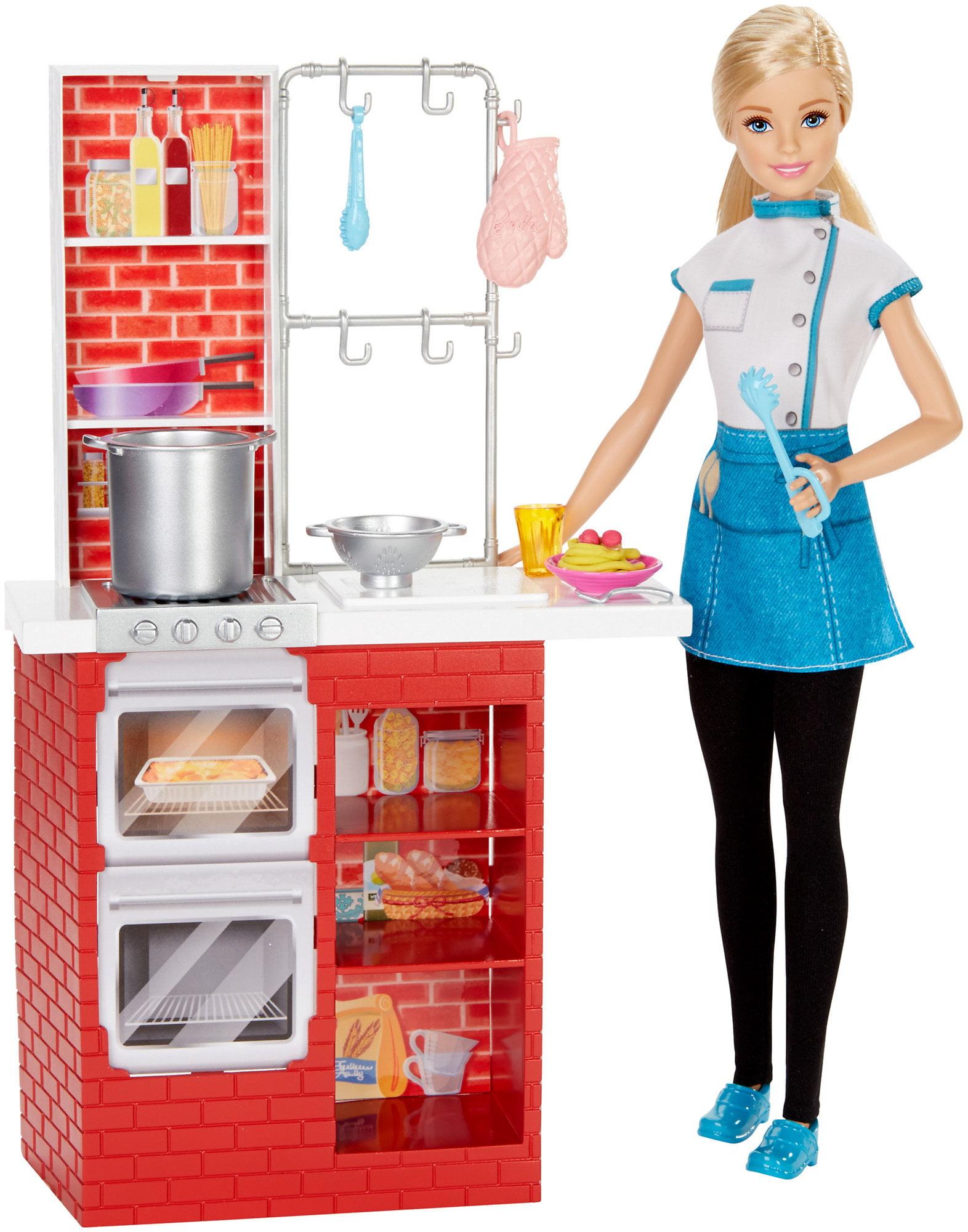 Barbie Spaghetti Chef Doll & Playset by Mattel