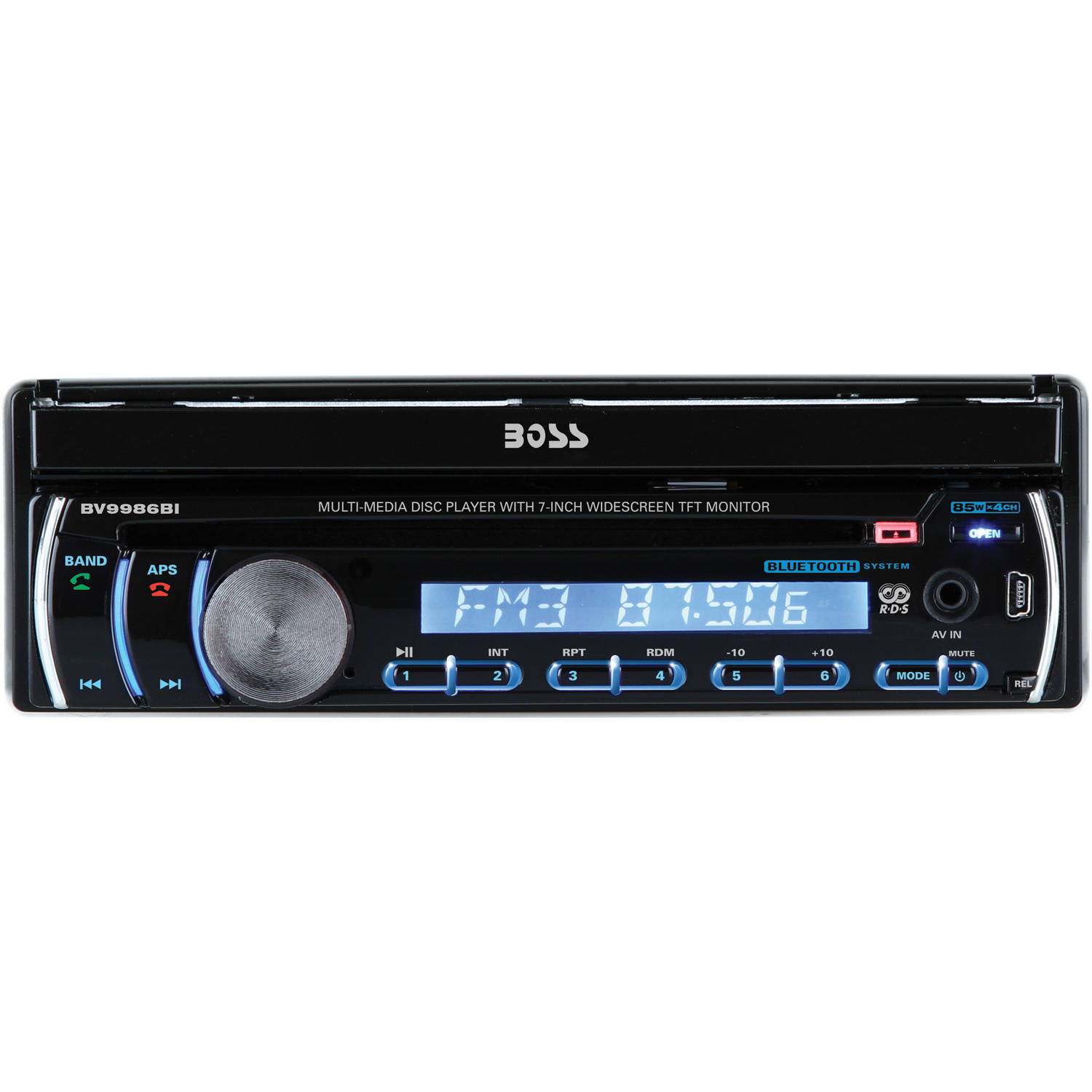 "Boss Audio BV9986BI Single-DIN In-Dash DVD/CD Receiver with 7"" LCD and Built-in Bluetooth"