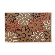 First Impression Qiana Flowers Entry Flocked Doormat, Large Size (24 x 36)