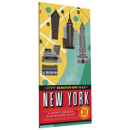 City Scratch Off Map New York A Sight Seeing Scavenger Hunt