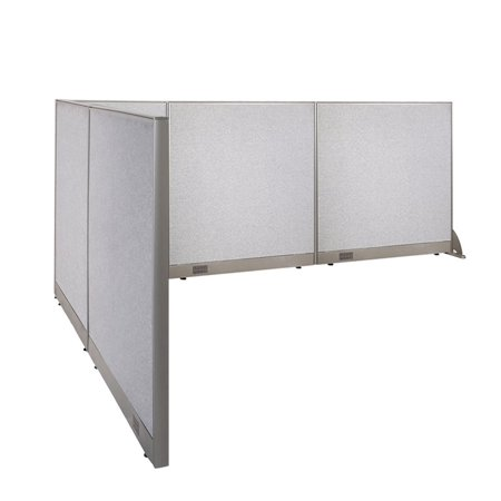 GOF L-Shaped Freestanding Office Panel Cubicle Wall Divider Partition 84D x 126W x 48H / Office, Room - Christmas Decor For Office Cubicle