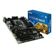 MSI H170A PC MATE - Motherboard - ATX - LGA1151 Socket - H170 - USB 3.1 Gen 1, USB 3.1 Gen 2 - Gigabit LAN - onboard graphics (CPU required) - HD Audio (8-channel)