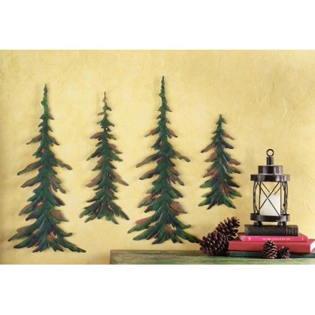 Evergreen Pine Tree Metal Wall Decor Set (Tree Wall Decor)