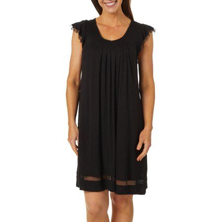Ellen Tracy Womens Essentials Solid Short Sleeve Nightgown