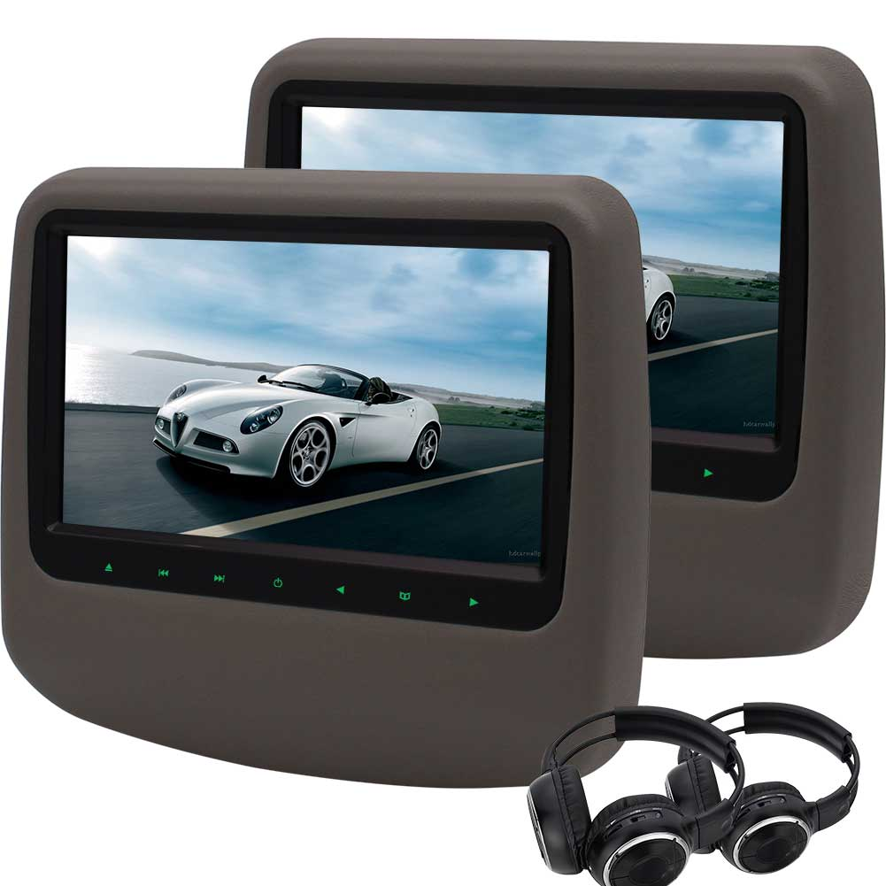 2 Pcs Car Headrest Table Holder Car Dvd Player 9 Video Wide View Lcd Screen Auto Monitor Support Fm Ir Usb Sd Include Wireless Headphones Walmart Inventory Checker Brickseek