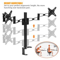 Anauto Stand Steady Dual Monitor Stand Desk Mount Arm Fits 2 Screens 10  to 27  Aluminium Alloy, Dual Monitor Desk Mount Arm, Dual Monitor Stand 27 inch