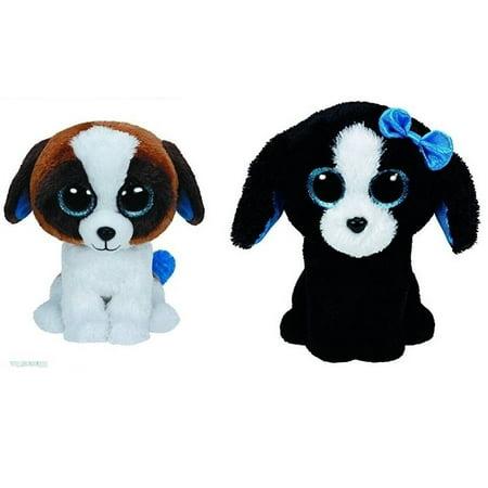 3b4b6671b9e Ty Duke and Tracey Dogs Set of 2 Beanie Boos Stuffed Animal Plush Toy -  Walmart.com