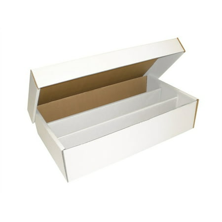 Lot of 5 Max Protection Super Shoe 3000ct 3-Row Cardboard Trading Card Storage Boxes ()