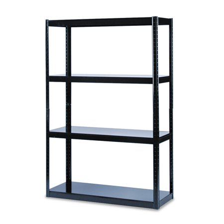 Safco Boltless Steel Shelving  Five Shelf  48W X 18D X 72H  Black