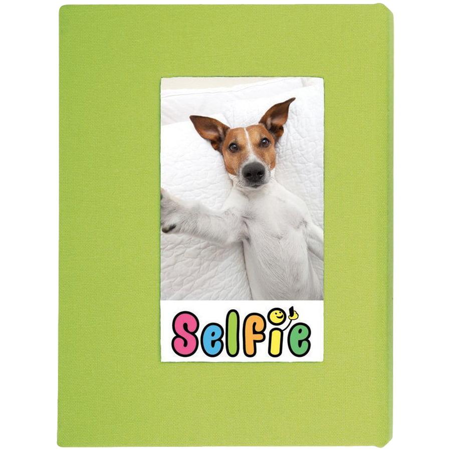 "Selfie 2.25"" x 3.5"" Photo Album - Holds 20 Photos (Lime) for Polaroid PIF-300 Instant & Fuji Instax Mini Film"