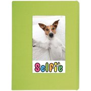 "Selfie 2.25"" x 3.5"" Photo Album - Holds 20 Photos (Lime) for Polaroid PIF-300 Instant & Fuji Instax Mini Film"