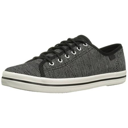 Keds Women's Kickstart Salt and Pepper Fashion Sneaker, Black, 6 M US - Keds Womens Sneakers