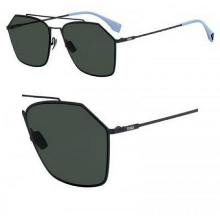 Sunglasses Fendi Men Ff M 22 /F/S 0KB7 Gray / UC green polarized lens