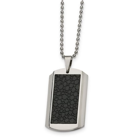 Stainless Steel Stingray Patterned Dog Tag 24in Necklace 45 Inch - image 3 de 3