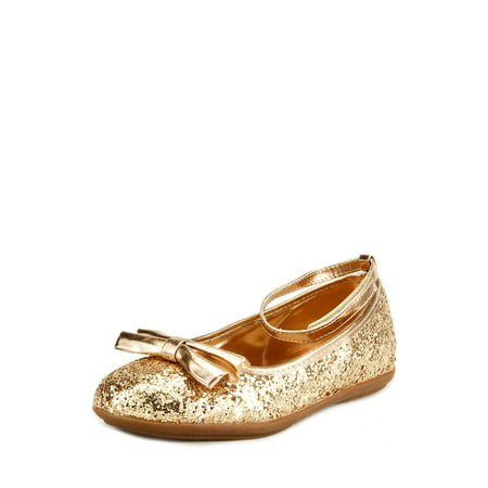 The Doll Maker Metallic Glitter Strap Flat Shoes - TD1511115A-13