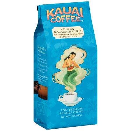 Kauai Coffee Vanilla Macadamia Nut Hawaiian Ground Coffee, 10 Ounce -