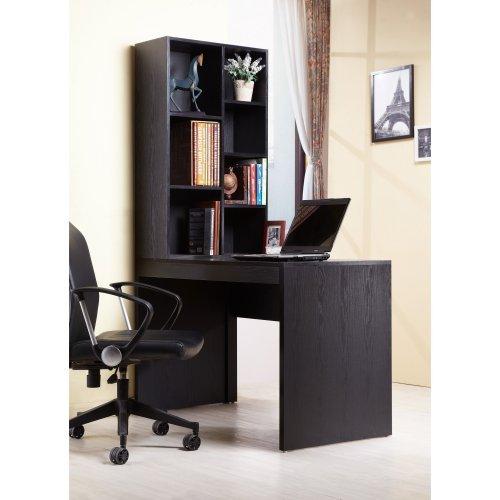 Furniture of America Warren Computer Desk with Bookshelf - Black