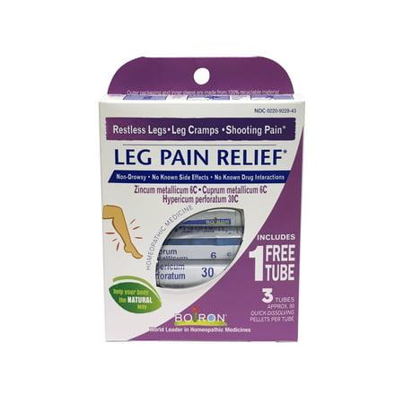 Boiron Leg Pain Relief Pellets, 2 Tubes Plus Bonus Tube