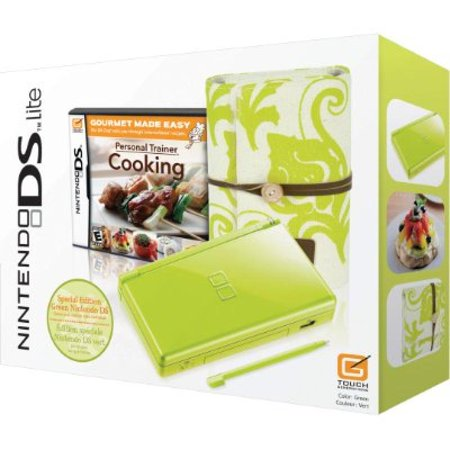 Nintendo Ds Lite Green Spring Bundle W Personal Trainer  Cooking