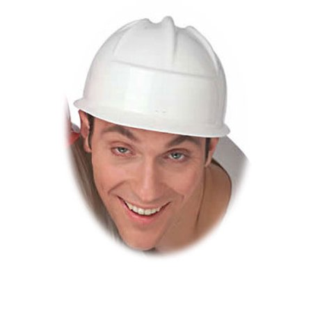 White Construction Crew Costume Hard Hat Toy Helmet - Toy Hard Hats